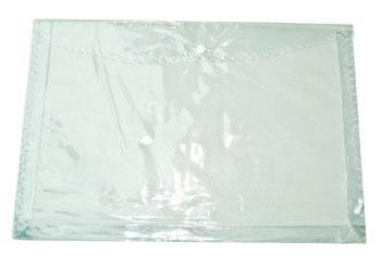 Plastic Envelope Expanding W Button Clear Long Opisina